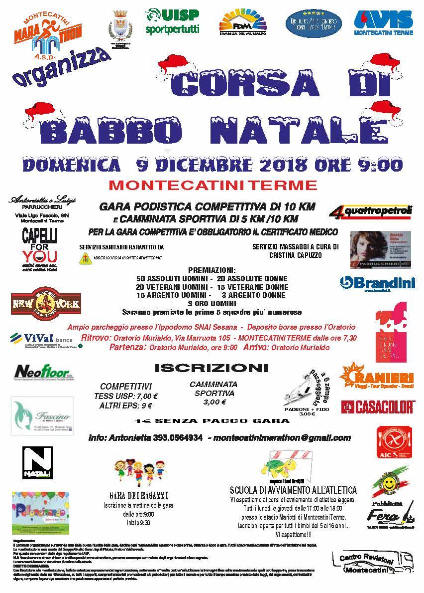 Percorso Babbo Natale.Corsa Di Babbo Natale Montecatini Marathon